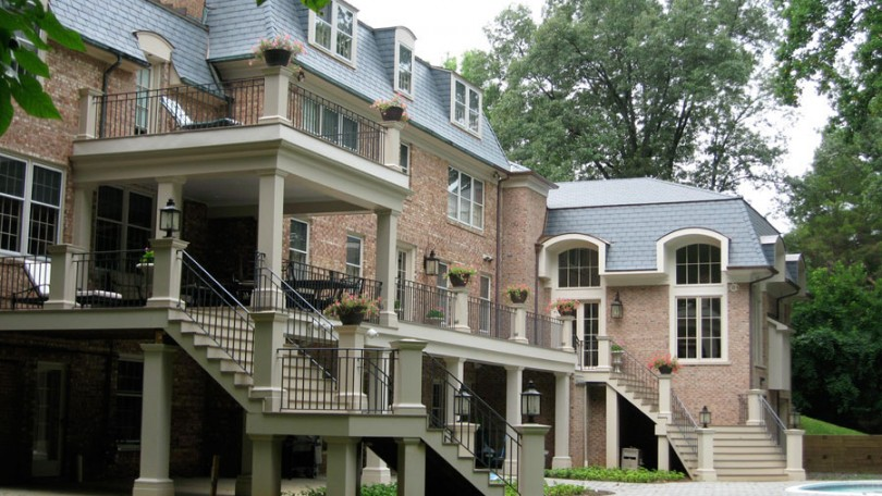 French Style Rear Terrace - Potomac, MD