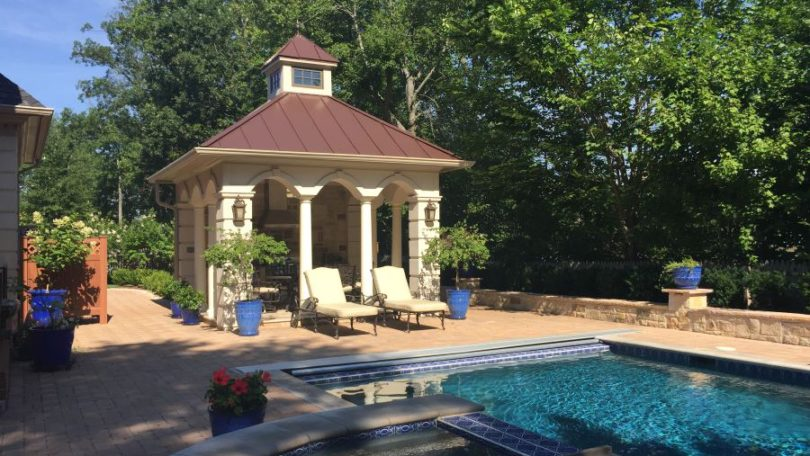 European Inspired Pool Pavilion - Potomac, MD