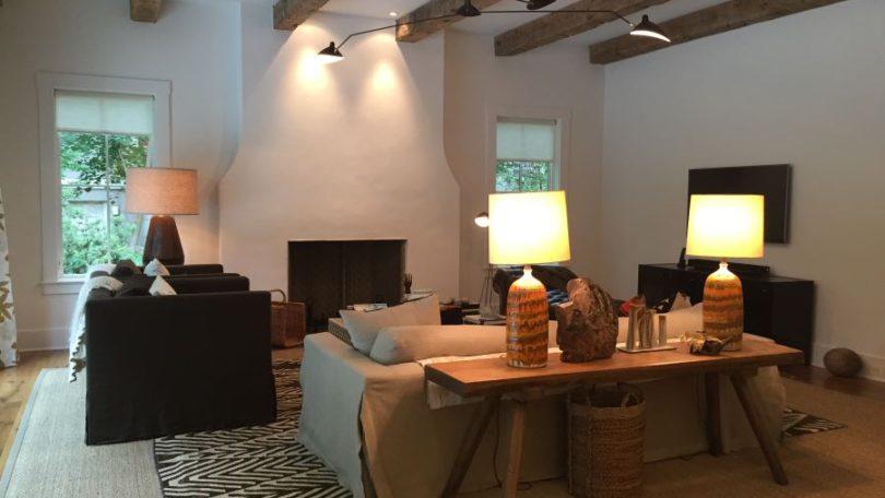 Chic Rustic Contemporary Family Room - McLean, VA