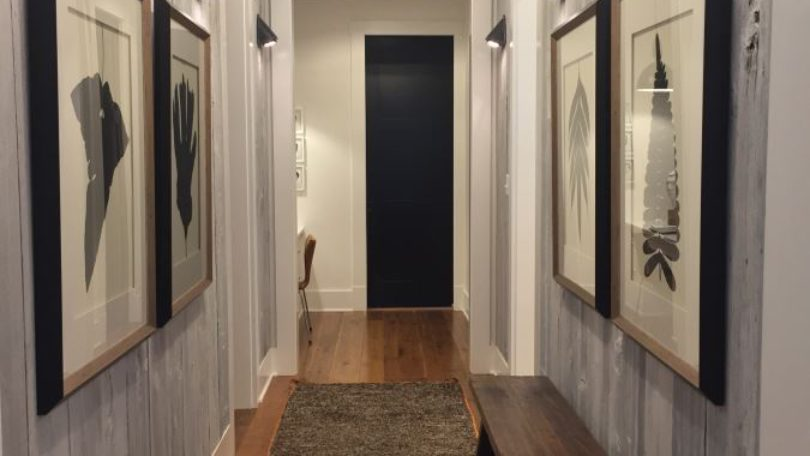 Chic Rustic Contemporary Hallway - McLean, VA