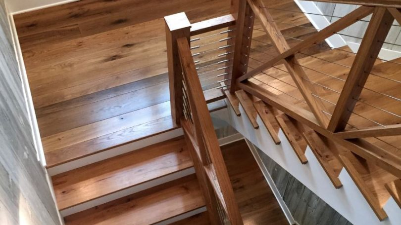 Chic Rustic Contemporary Staircase - McLean, VA