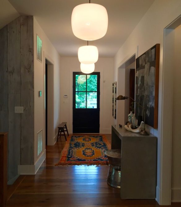 Chic Rustic Contemporary Front Hall - McLean, VA
