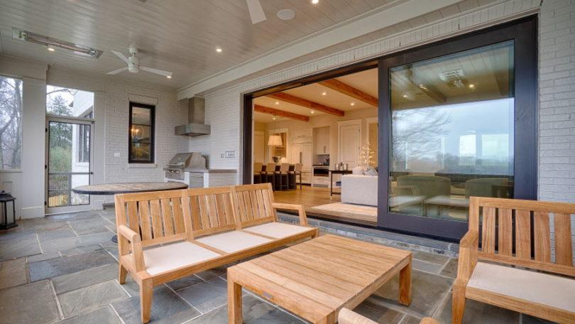 Ample Outdoor Room Featuring Multi-Slide Doors - Arlington, Virginia