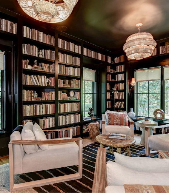 Dramatic & Cozy Library - McLean, VA