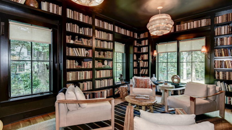 Dramatic & Cozy Library - McLean, VA