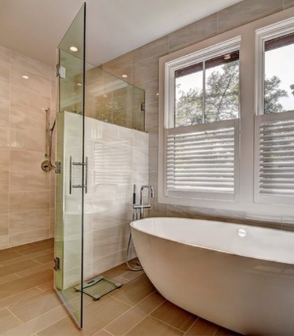 Contemporary Master Bath -Vienna, VA